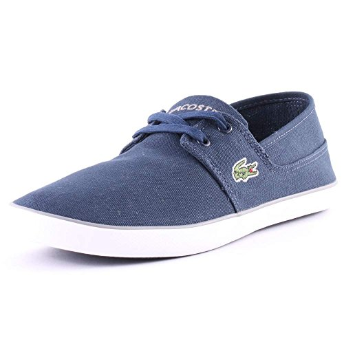 Lacoste Marice Lace Mens Canvas Trainers Blue Grey 11 US