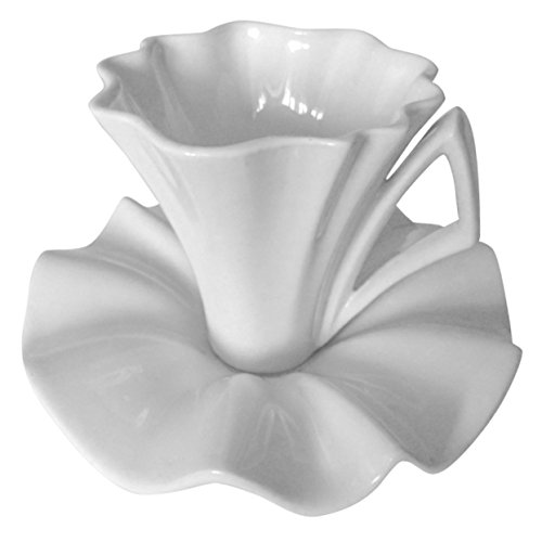Coffee/Tea Cup with Saucer in Set Lily. (White) ()
