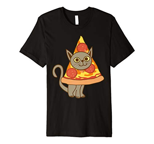 Cool Cat With Big Pepperoni Pizza On The Head Shirt Gift]()