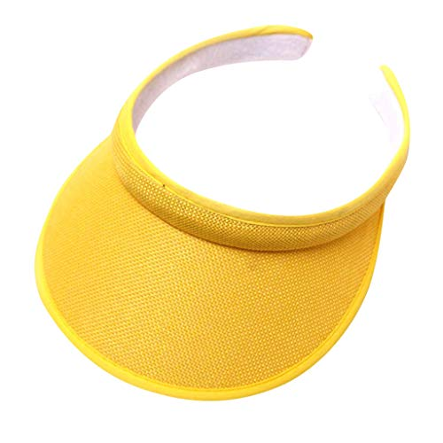 GdoI Ultralight Visor with Twill, Moisture Wicking and Reflective Sports Visor, Multiple Colors (Yellow)
