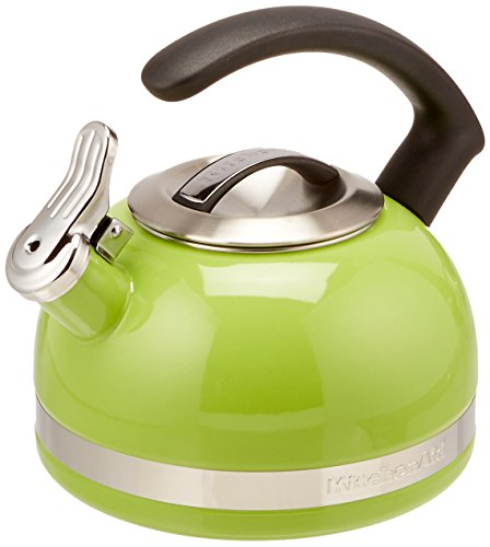 KitchenAid KTEN20CBKL 2.0-Quart Kettle with C Handle and Trim Band - Sunkissed Lime - Lime Green Tea