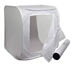 Photo Light Tent 28 In Cube Kit By Alzo with Background Paper Set