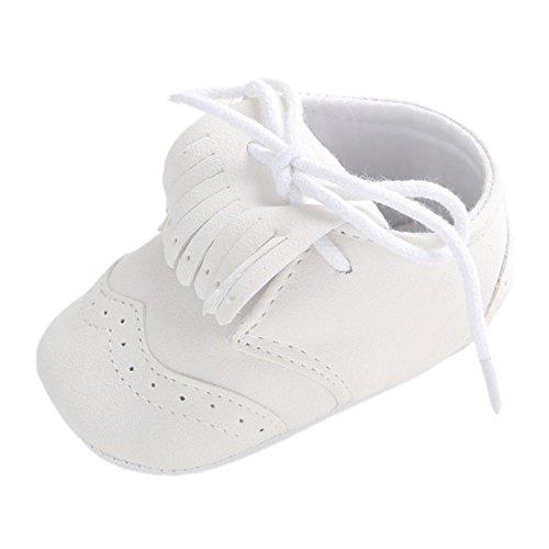etrack-online Baby Boys Deportes zapatillas Prewalker Cuna cordones zapatos de Babe gris gris Talla:6-12 mes Fringed White