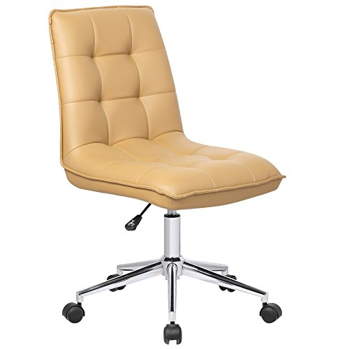 Porthos Home Leona Office Chair Unique Luxury Home Office Chairs, Height Adjustable, 360-degree Swivel, Easy Glide Caster Wheels, Ultra-Thick Padding Size; 24 x 20 x 39 inch by Porthos Home