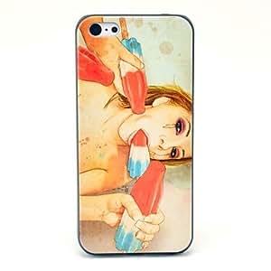 ZCL-Patrón Chica horrible duro caso para iPhone 5C