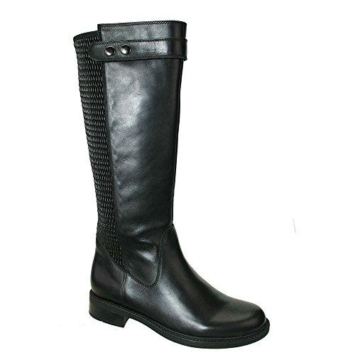 David Tate Women's Avery 18 Knee High Boots, Black Calfskin, 8.5 M