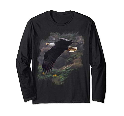 Eagle in Flight: Limited Edition Long Sleeve Photo T-Shirt