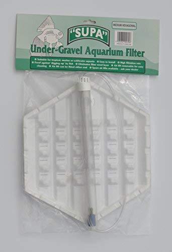 Angels Aquatics & Pet Supplies Hexagon Aquarium Fish Tank Under Gravel Filter Medium Hexagon 12.5' x 7'