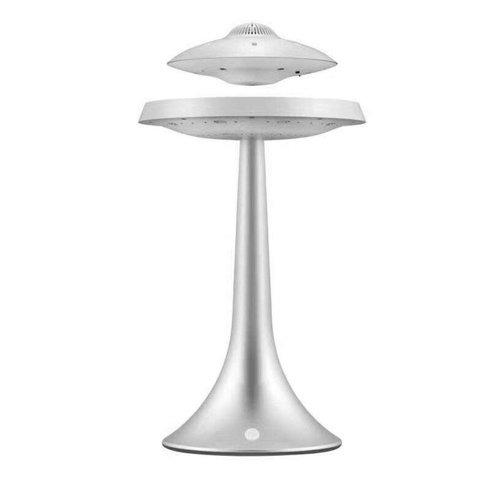 fanhangxuan Waterproof Bluetooth Speaker Colorful UFO Waterproof Bluetooth Speaker Magnetic Suspension Speaker New Exotic Gift, Silver by fanhangxuan