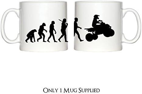 Evolución de Quad bicicletas diseño 6 oz taza de café: Amazon.es: Hogar