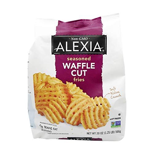 Alexia Seasoned Waffle Cut Fries, 20 oz (4 Pack)
