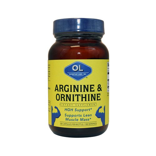 Olympian Labs Arginine And Ornithine -- 100 Vegetarian Capsules