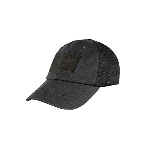 Condor Mesh Tactical Cap (Black, One Size Fits All)