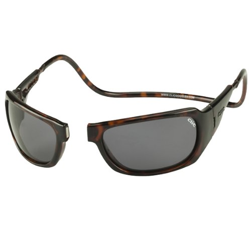 CliC Monarch Magnetic Sunglasses - Frame: Tortoise, Lens: Polarized - Sunglasses Magnetic