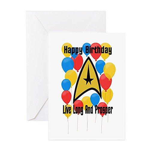CafePress Happy Birthday Live Long Greeting Cards Greeting Card, Note Card, Birthday Card, Blank Inside Matte -