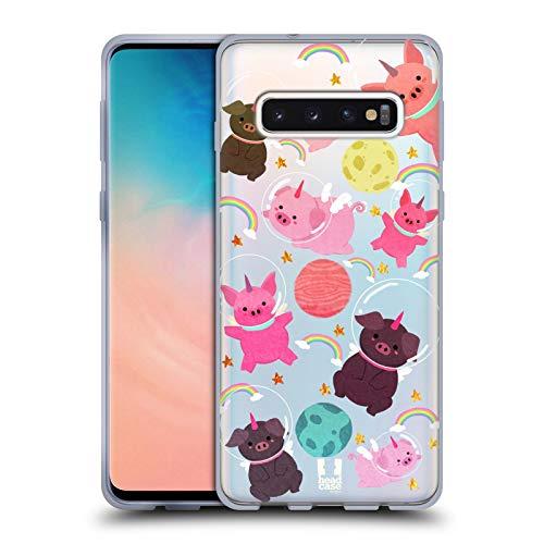 - Head Case Designs Pig Space Unicorns Soft Gel Case for Samsung Galaxy S10