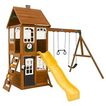 Gentil Wooden Playset, Outdoor Playset Wooden, Wooden Backyard Playsets, Wooden  Playsets For Backyard