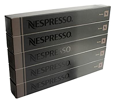 "50 Nespresso OriginalLine: Roma, 50 Count - ""NOT Compatible with Vertuoline machines"""