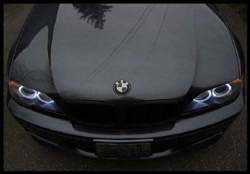 2x 82mm real carbon fiber bmw black silver hood trunk emblems import it all. Black Bedroom Furniture Sets. Home Design Ideas