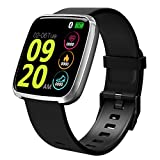 Smart Watch, Waterproof Activity Tracker Heart Rate Monitor Wearable Oxygen Blood Pressure Fitness Tracker Bluetooth Running Watch