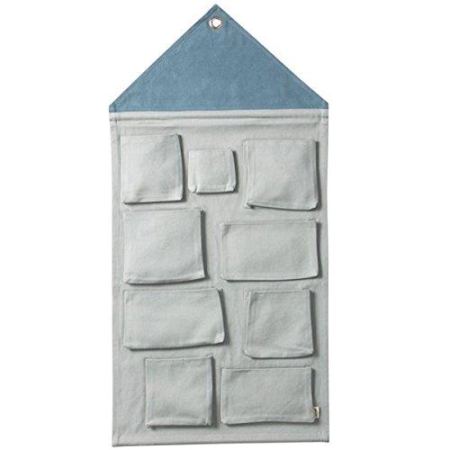 Ferm Living - House Wandaufbewahrung, Dusty Blau