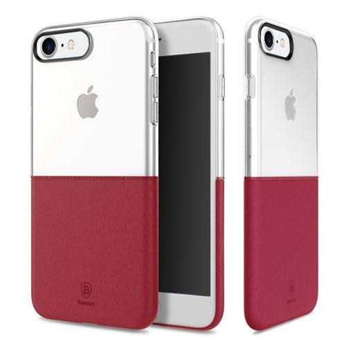 Baseus Premium Maker Case für Apple iPhone 7 red - Faceplate