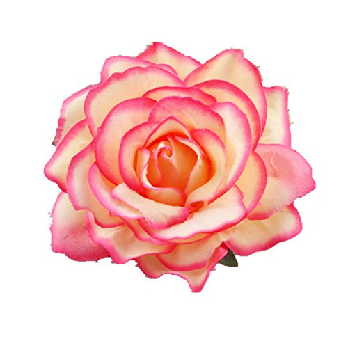 Big Blooming Rose Flower Wedding Bridal Hair Clip headpiece Brooch Pin Gn LL (Color - Rose Red)
