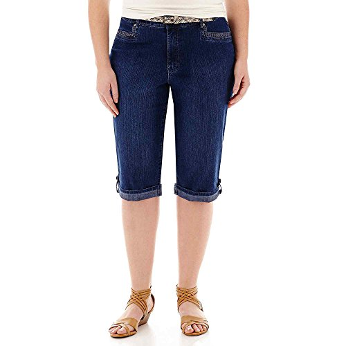 Gloria Vanderbilt Marnie Belted Cropped  - Embroidered Capri Cropped Shopping Results