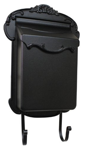 Mailbox Blk Wall (Special Lite Products SVV-1013-BLK Victoria Vertical Mailbox, Black, Full Size)