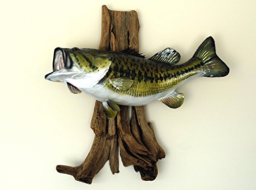 Wallmonkeys Large Mouth Bass Mounted Wall Decal Peel for sale  Delivered anywhere in USA