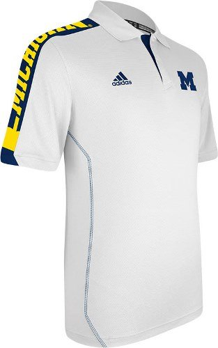 NCAA adidas Michigan Wolverines Sideline Swagger Performance Polo - White ()
