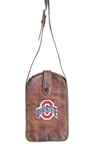 NCAA Ohio State Buckeyes Women's Cross Body Purse, Brass, One Size by Gameday Boots
