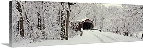 Canvas On Demand Premium Thick-Wrap Canvas Wall Art Print entitled Covered Bridge PA (Covered Pa Bridge)