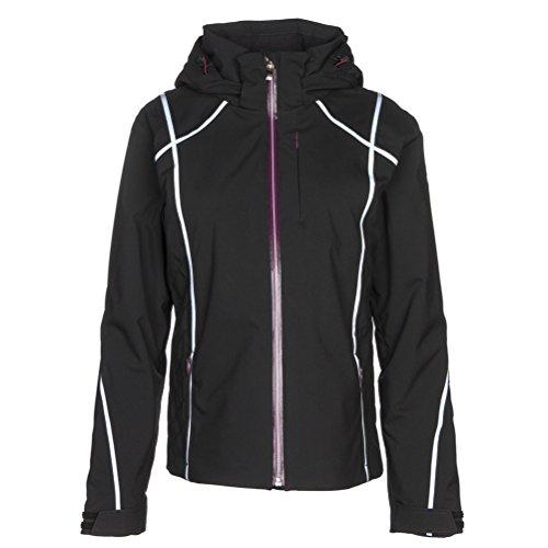 DESCENTE Bree Womens Insulated Ski Jacket - 14/Black-Super White-Deep Plum