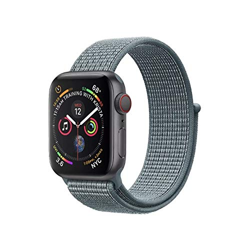 - Watch Band Compatible with Apple Watch, Lightweight Breathable Nylon Replacement Band Sport Loop Replacement Strap Compatible with iWatch Series 1/2/3/4, Size 42/44mm, Gray