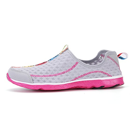 DoGeek Water Shoes Männer Frauen-Für Aqua Surf / Strand / Wetsuit Trainer-Leichte Mesh Atmungsaktive Sandalen Rosa