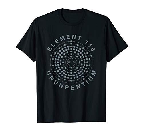 Element 115 Ununpentium Electron Shell Area 51 Alien UFO T-Shirt