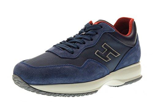 HOGAN hombre bajas zapatillas de deporte HXM00N0U410FJ8125E INTERACTIVA Azul