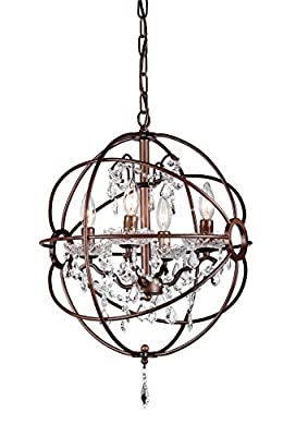 Whse of Tiffany RL8049-32AB Edwards 32-Inch Chandelier, Antique Bronze