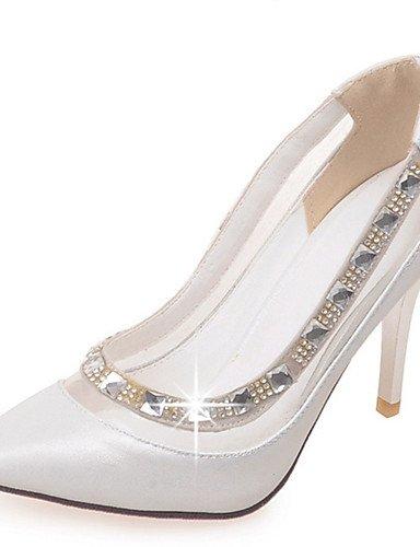 talons Beige amp; chaussures Ggx Décontracté Uk6 5 us8 Pointu À Aiguille Soirée habillé Femme Bout White Blanc talon Chaussures Cn40 Talons rose 5 Evénement Eu39 X7C7xqpwz