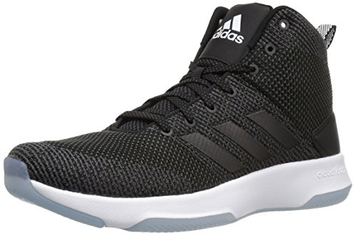 Image of the adidas NEO Men's CF Executor Mid Basketball-Shoes, Utility Black/Black/White, 9 Medium US