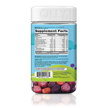 Lil' Ollys Kids' Multi + Probiotic Yum Berry Punch Vitamin Gummies (140 ct.) x2 AS