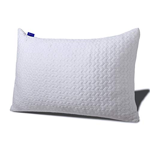 Stomach Sleeper Pillows for Sleeping-Bed Pillows with Gel Shredded Memory Foam,Customized Loft for Neck & Shoulder Pain Relief,Adjustable Memory Pillow Queen Size for Back & Side Sleepers