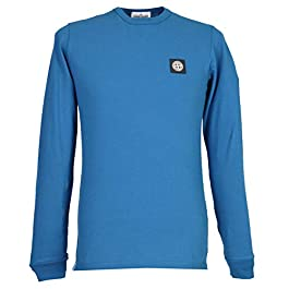 Stone Island Junior Boy`s Crew Neck Long Sleeves T-Shirt – Blue