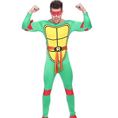 80s TV Show Teenage Mutant Ninja Turtles Costume TMNT Fancy Dress w/ Mask (80s Fancy Dress Characters)