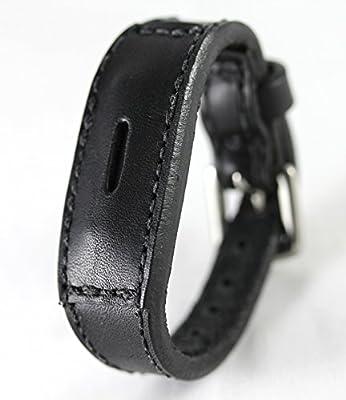 Fitbit Flex 2 Real Leather Band - Banda de Repuesto para FitBit Flex 2 - plena flor ajuste poco FLEX banda, Negro: Amazon.es: Deportes y aire libre