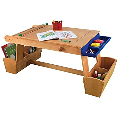 Attrayant KidKraft Art Table With Drying Rack And Storage