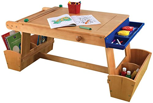 KidKraft Art Table with Drying Rack and Storage]()