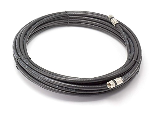 THE CIMPLE CO - 75' Feet, Black RG6 Coaxial Cable (Coax Cable) | Made in The USA | with Connectors, F81 / RF, Digital Coax | AV, CableTV, Antenna, and Satellite, CL2 Rated, 75 Foot