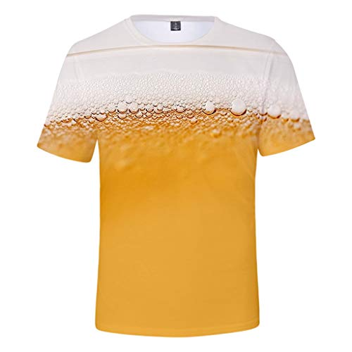 Togethor Mens Top Blouse Casual Summer Beer Festival